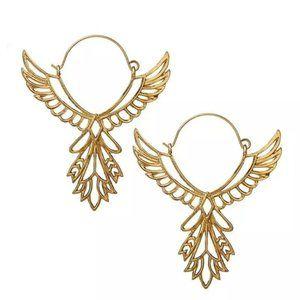 FREE 🚗 !! Bird Thunderbird  Gold Earrings